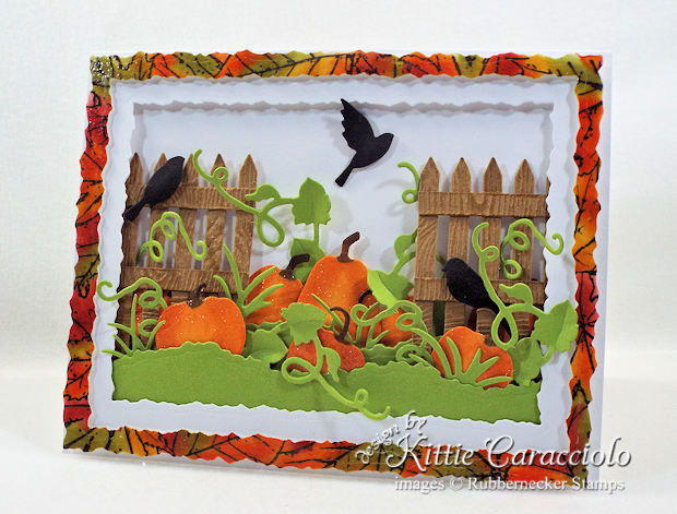 Come see how I made this fall pumpkin patch card.