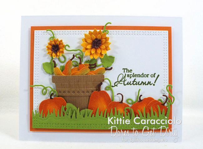 Come see how I made this fall pumpkins and sunflowers card.