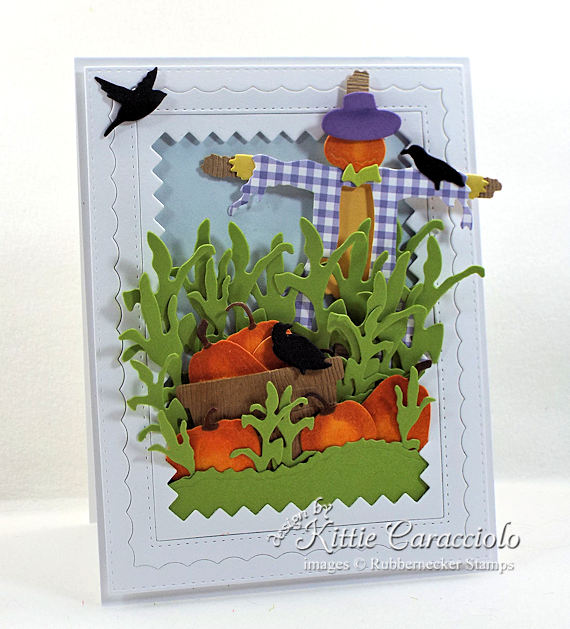 Come see how I made this fun colorful scarecrow and pumkins card.