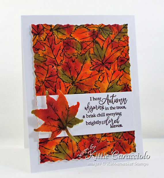 Come see how I made this lovely autumn leaves background card.