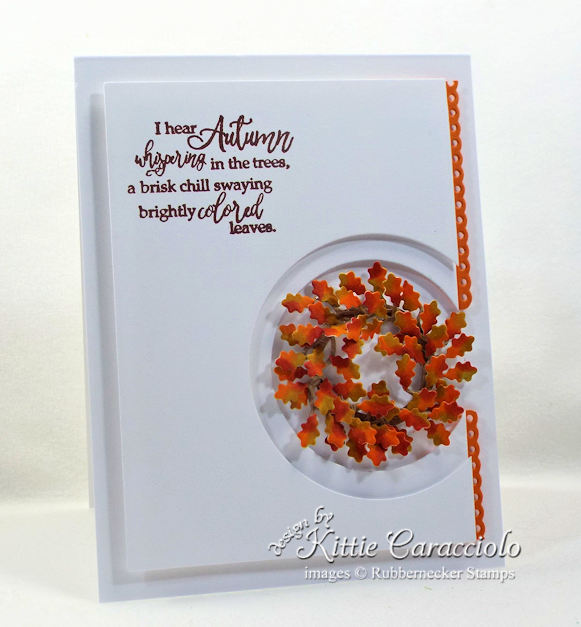 Come see how I made this pretty CAS fall wreath card.