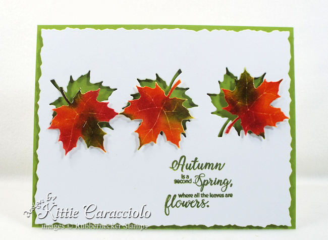 Come see how I made this pretty die cut autumn leaves card.