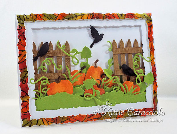 Come see how I made this pretty fall pumpkin patch card.