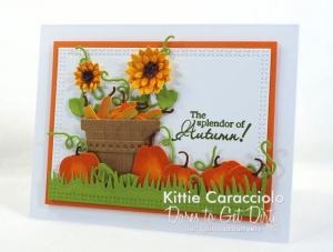 Pumpkins and Sunflowers Card