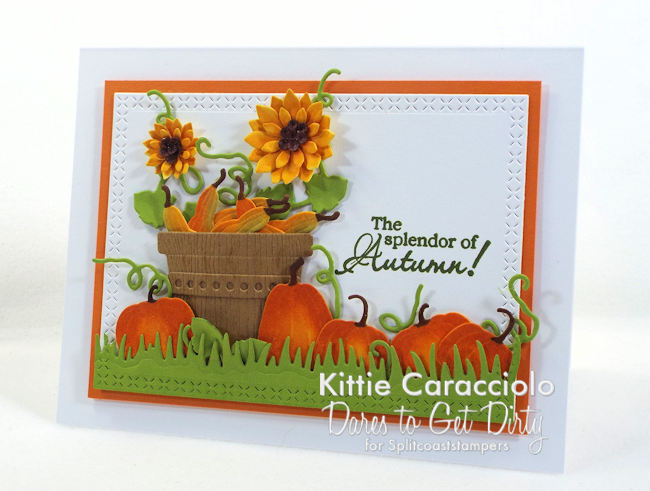 Come see how I made this pumpkins and sunflowers card.
