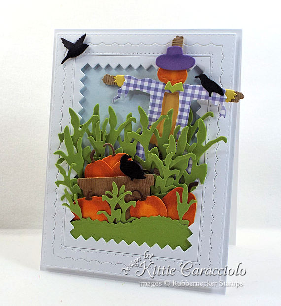Come see how I made this scarecrow and pumkins card.
