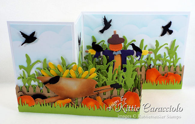 Come see how I made this scarecrow z fold box card.