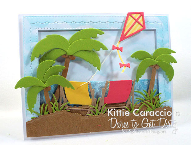Come see how I made this sparkly palm trees beach scene card.