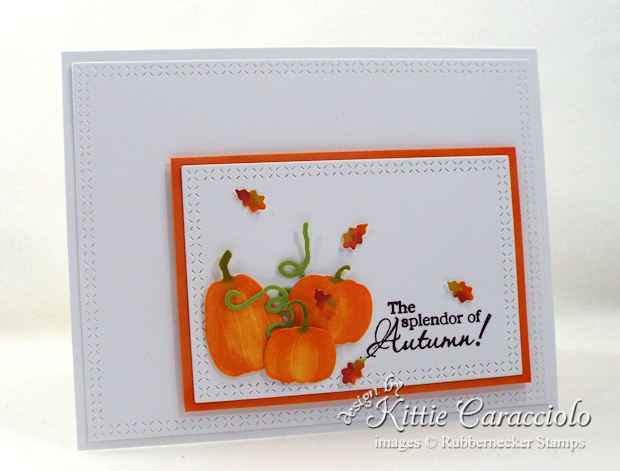 Come see how I made thispretty CAS pumpkins and leaves card.