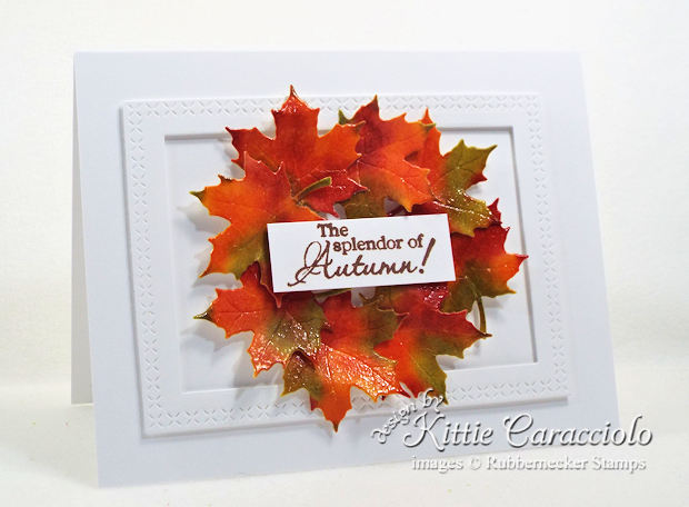 Come check out how I made this clean and simple fall leaf wreath card.