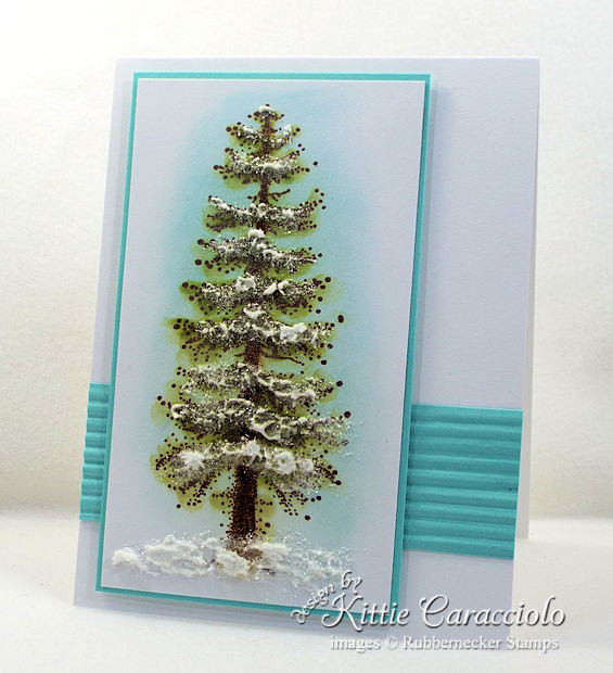 Come over to my blog and check out how I made this snowy pine tree card.