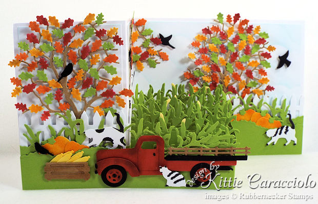 Come over to my blog for colorful fall z fold card ideas.