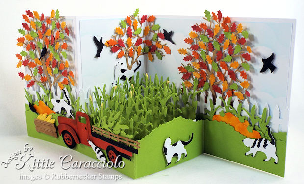 Come over to my blog for fun fall z fold card ideas.