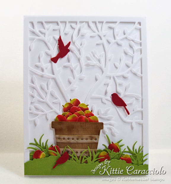 Come see how I made my colorful apple basket scene card.
