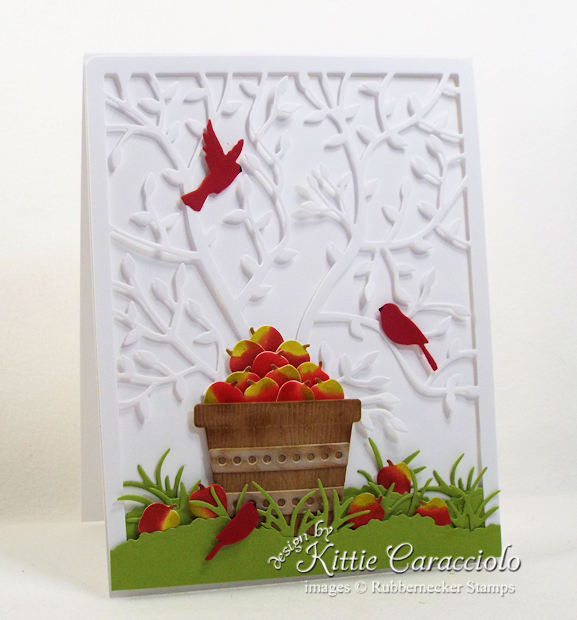 Come see how I made my pretty apple basket scene card.
