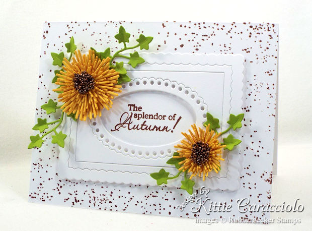 Come see how I made this autumn paper flowers card.