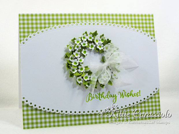 Come see how I made this colorful clean and simple paper flower wreath card.