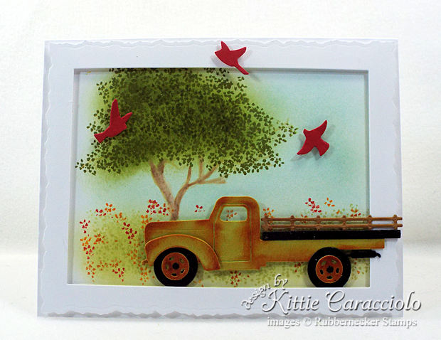 Come see how I made this colorful old rusty truck card.