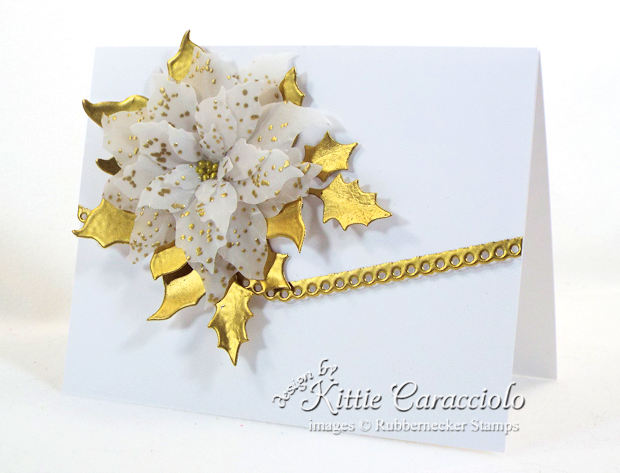 Come see how I made this elegant gold embossed vellum poinsettia card.