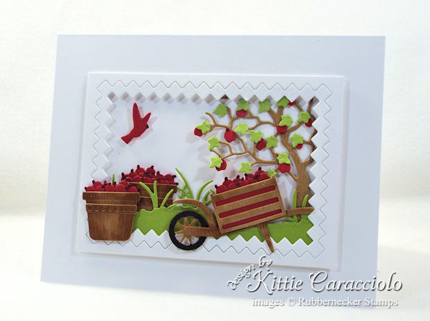 Come see how I made this fall apple baskets card.