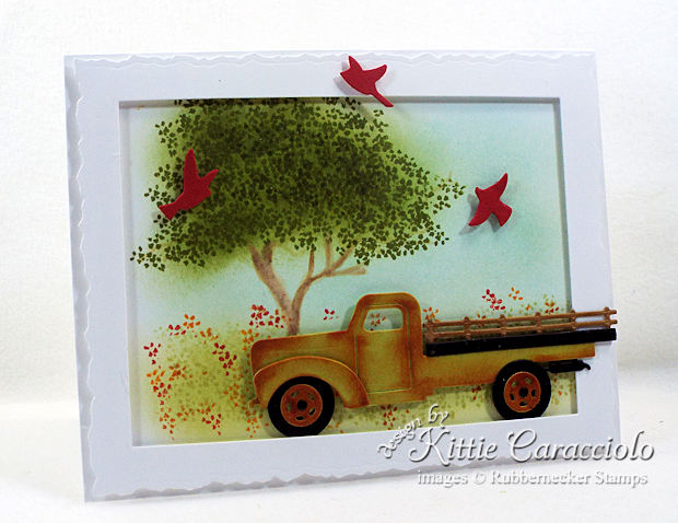 Come see how I made this fun old rusty truck card.
