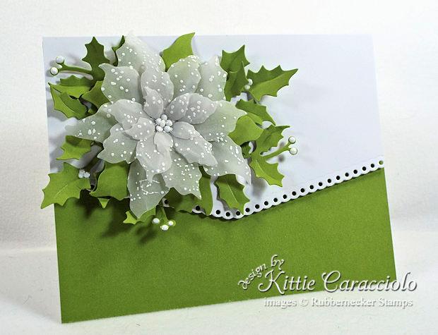 Vellum Poinsettia Christmas Card