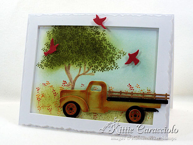Come see how I made this old rusty truck card.