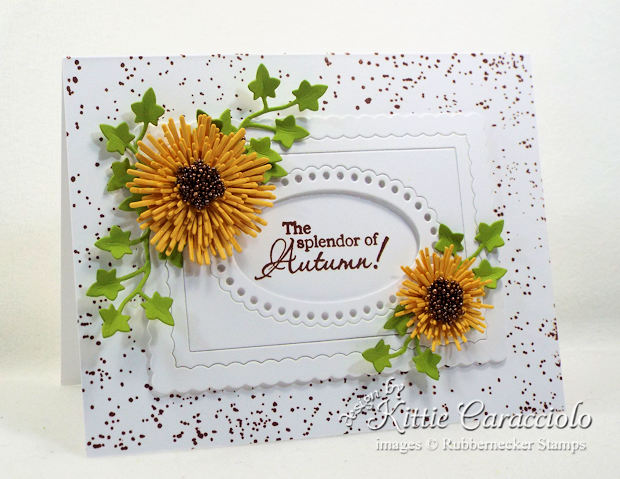 Come see how I made this pretty autumn paper flowers card.