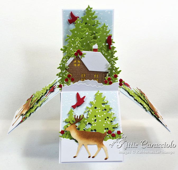 Come see how I made this pretty pop up box card for Christmas.