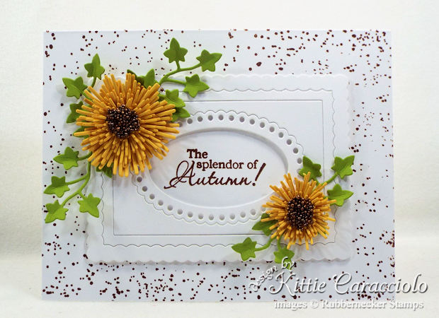 Come see how I made this simple autumn paper flowers card.