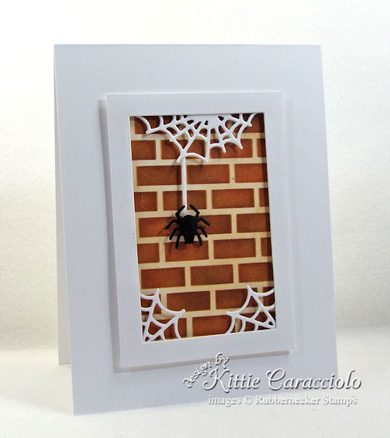 Come see how I made this spooky Halloween spider and spiderwebs card.