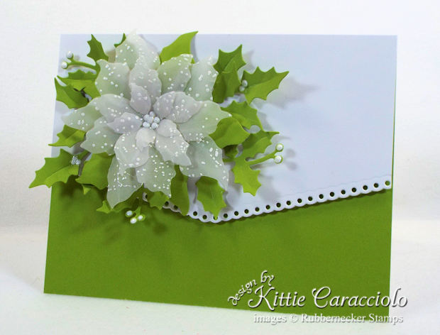 Come see how I made this vellum poinsettia Christmas card.