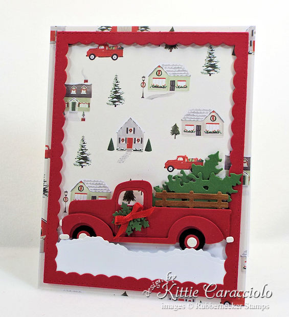 Come see my easy masculine die cut christmas card.