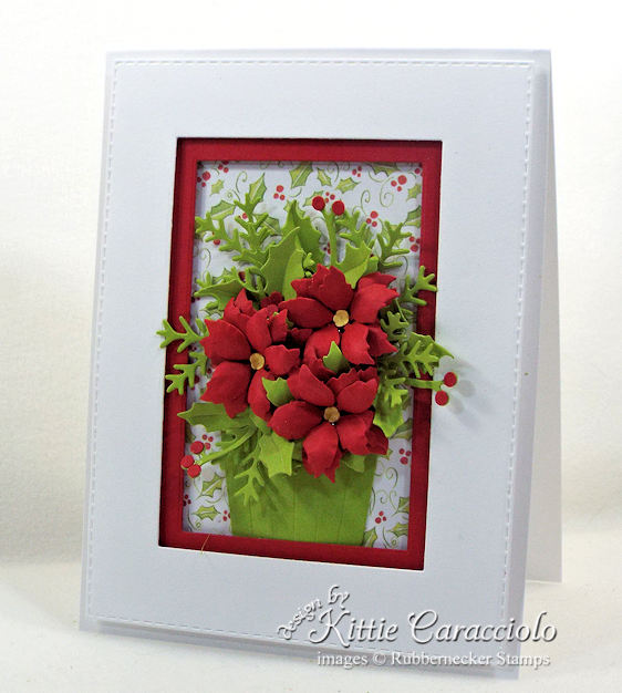 Come see my poinsettia paper flowers basket.