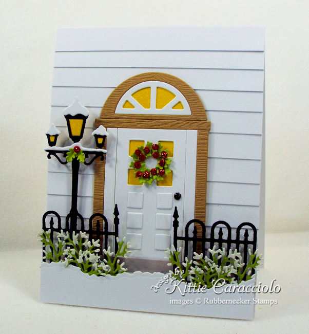 Come over to my blog and see how I made this Christmas front door card.