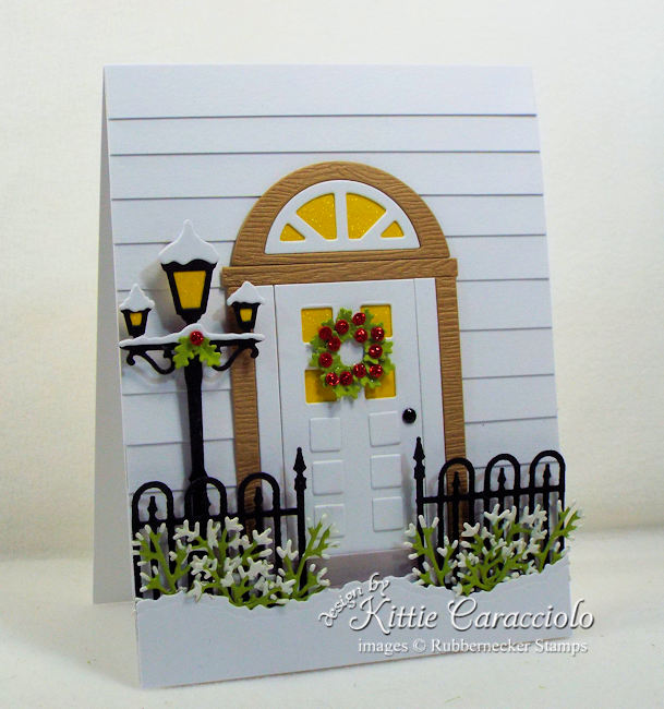 Come over to my blog and see how I made this lovely Christmas front door card.