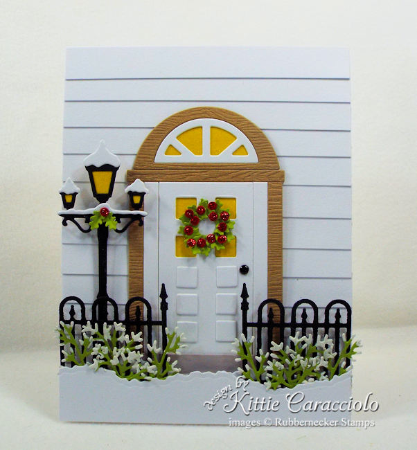 Come over to my blog and see how I made this snowy Christmas front door card.