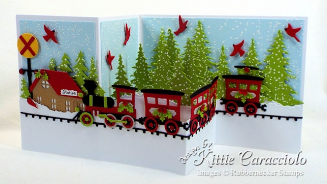 Come over to my blog to see how I made this Christmas train z gold card.