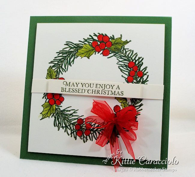 Come over to my blog to see how I made this Christmas wreath card.