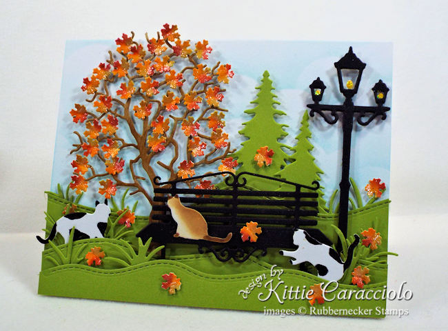 Come over to my blog to see how I made this autumn leaves card with kitty cats.