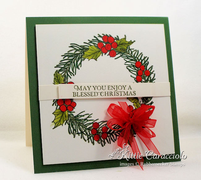 Come over to my blog to see how I made this clean and simple Christmas wreath card.
