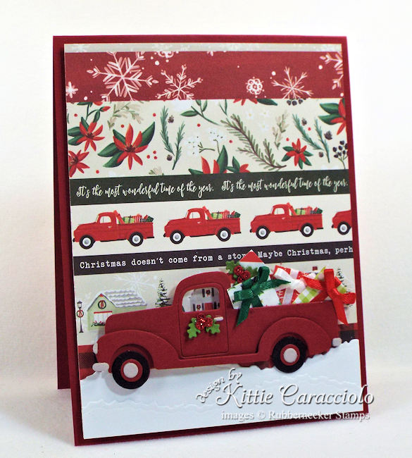 Come over to my blog to see how I made this clean and simple classic truck Christmas card.