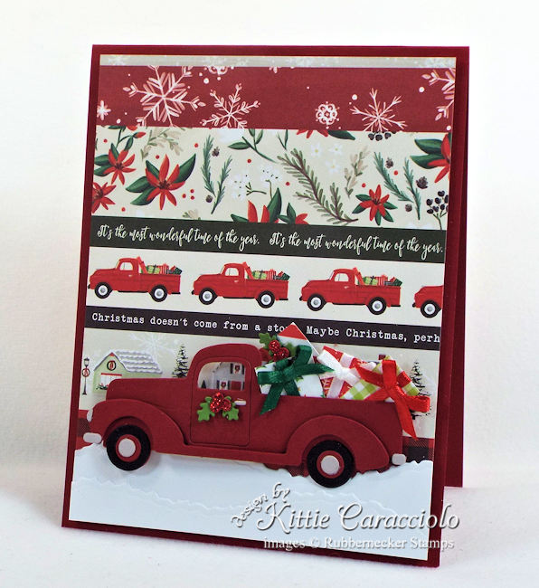 Come over to my blog to see how I made this clean and simple truck Christmas card.