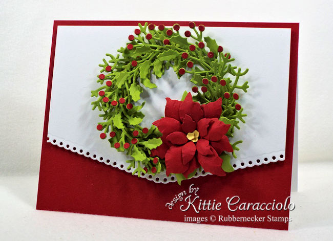 Come over to my blog to see how I made this elegant wreath Christmas card.