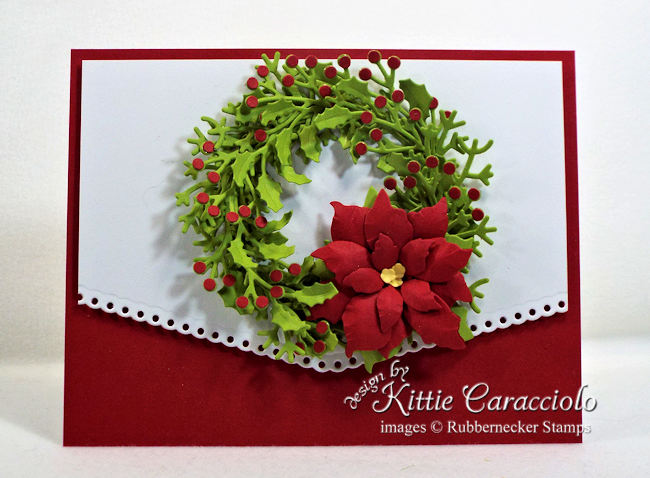 Come over to my blog to see how I made this lovely wreath Christmas card.