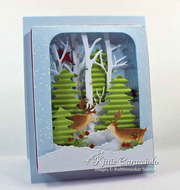 Come over to my blog to see how I made this pretty shadow box winter scene card.