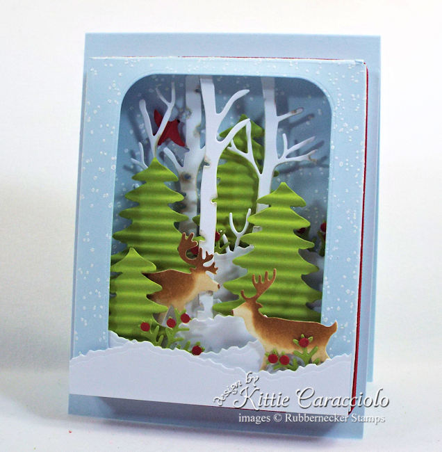 Come over to my blog to see how I made this shadow box winter scene card.