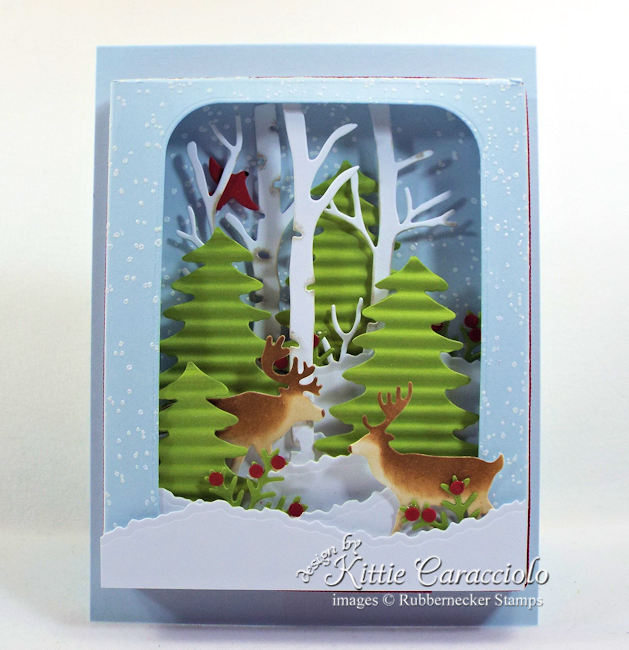 Come over to my blog to see how I made this snowy shadow box winter scene card.