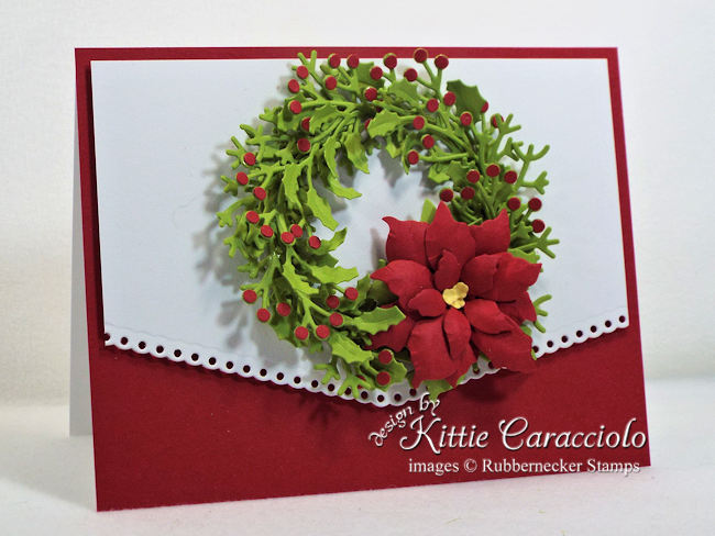 Come over to my blog to see how I made this wreath Christmas card.