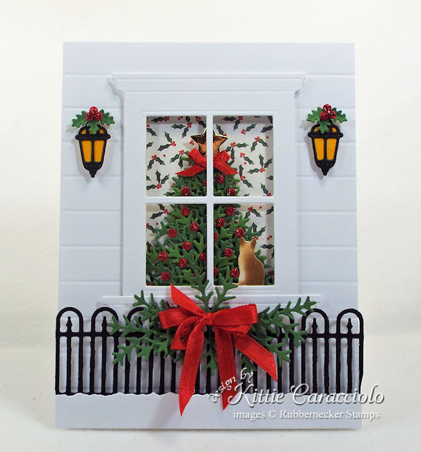 Come over to my my blog to see how I made this pretty christmas tree window card.
